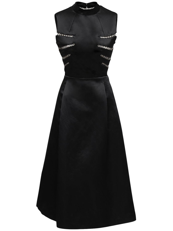 NOIR KEI NINOMIYA Metal Details Satin Dress