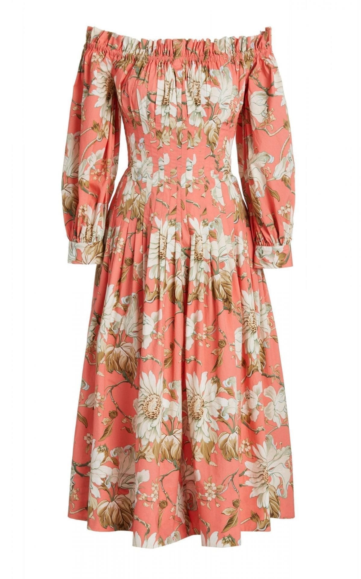 OSCAR DE LA RENTA Floral-Printed Dress