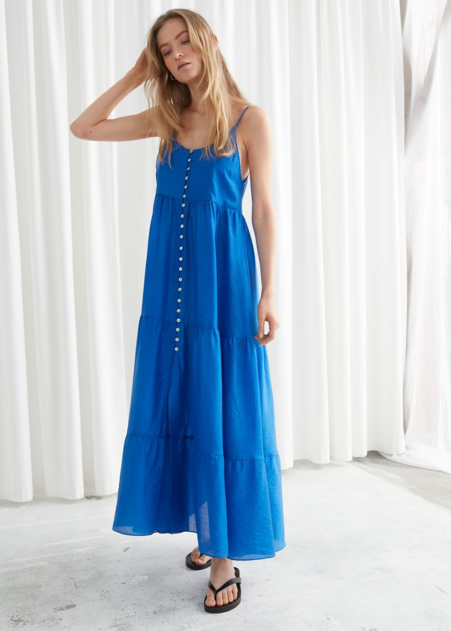 & OTHER STORIES Buttoned Maxi Strap Dress