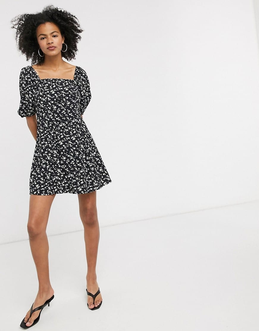 & OTHER STORIES Floral Print Button Through Mini Dress