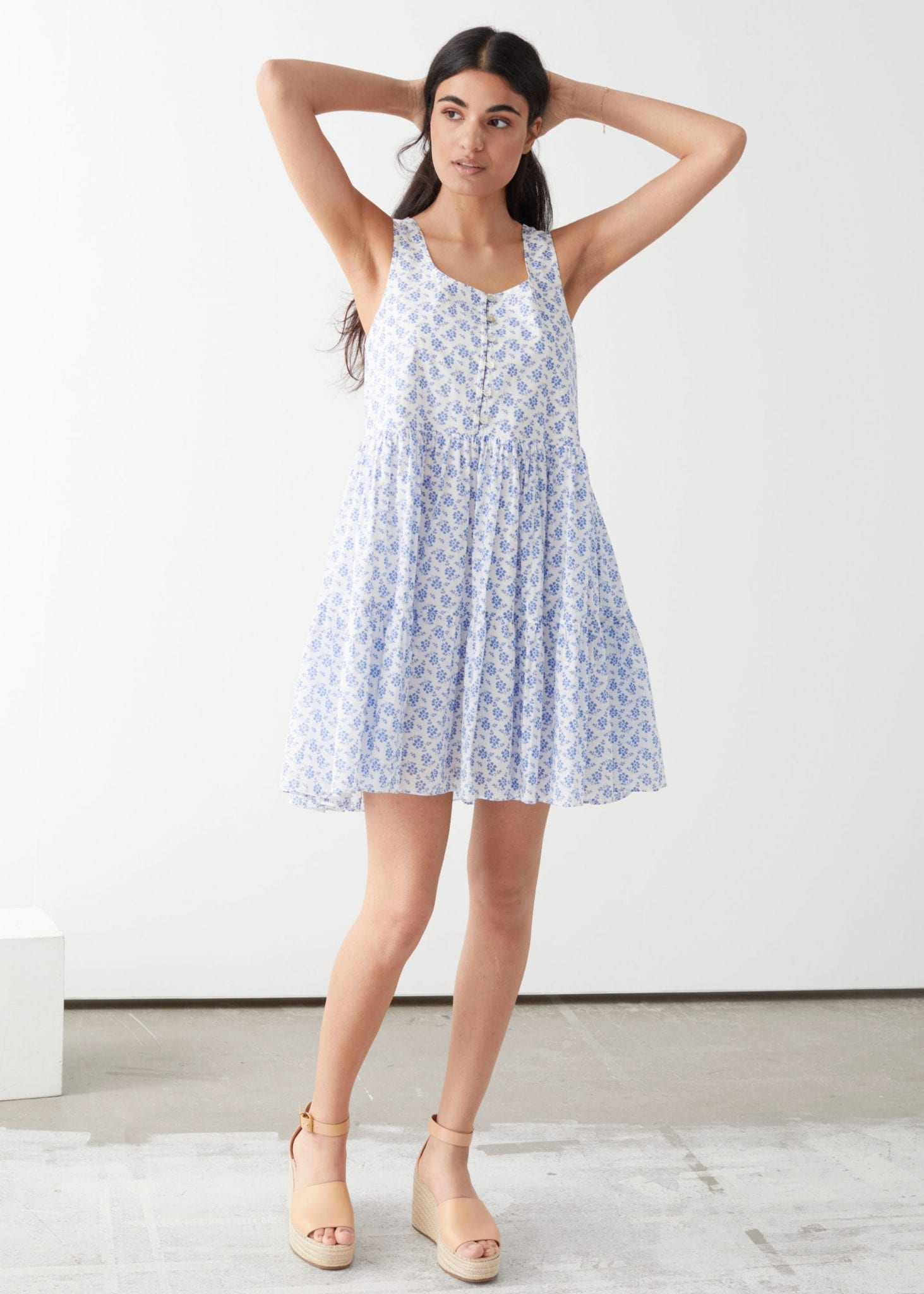 & OTHER STORIES Relaxed Gathered Mini Dress