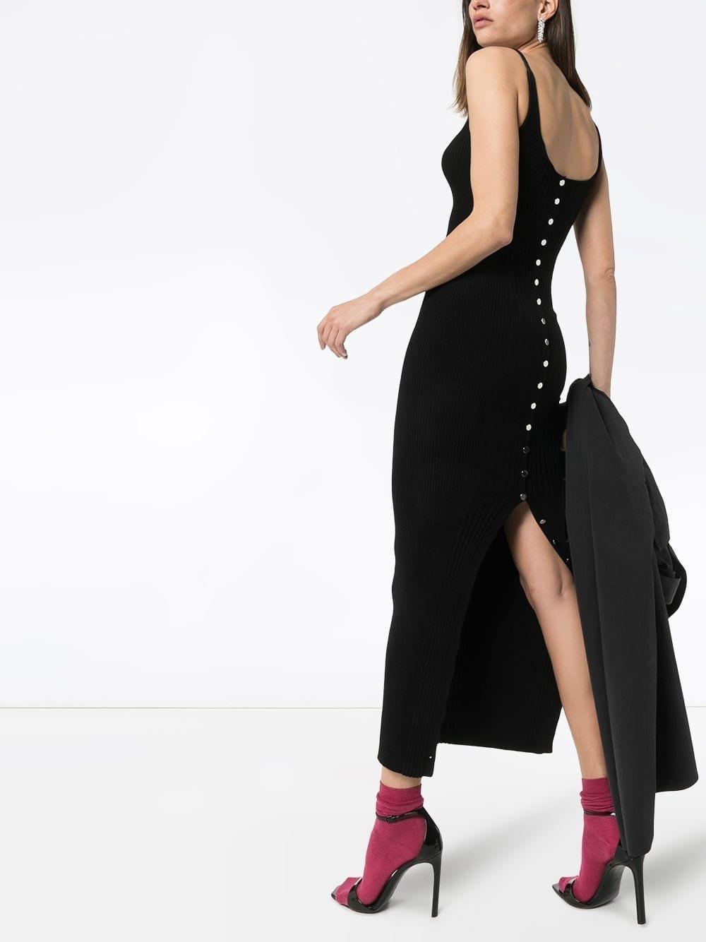 PACO RABANNE Ribbed-knit Maxi Dress