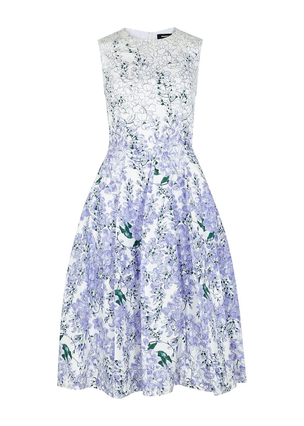 PAULE KA Floral-print Stretch-cotton Dress