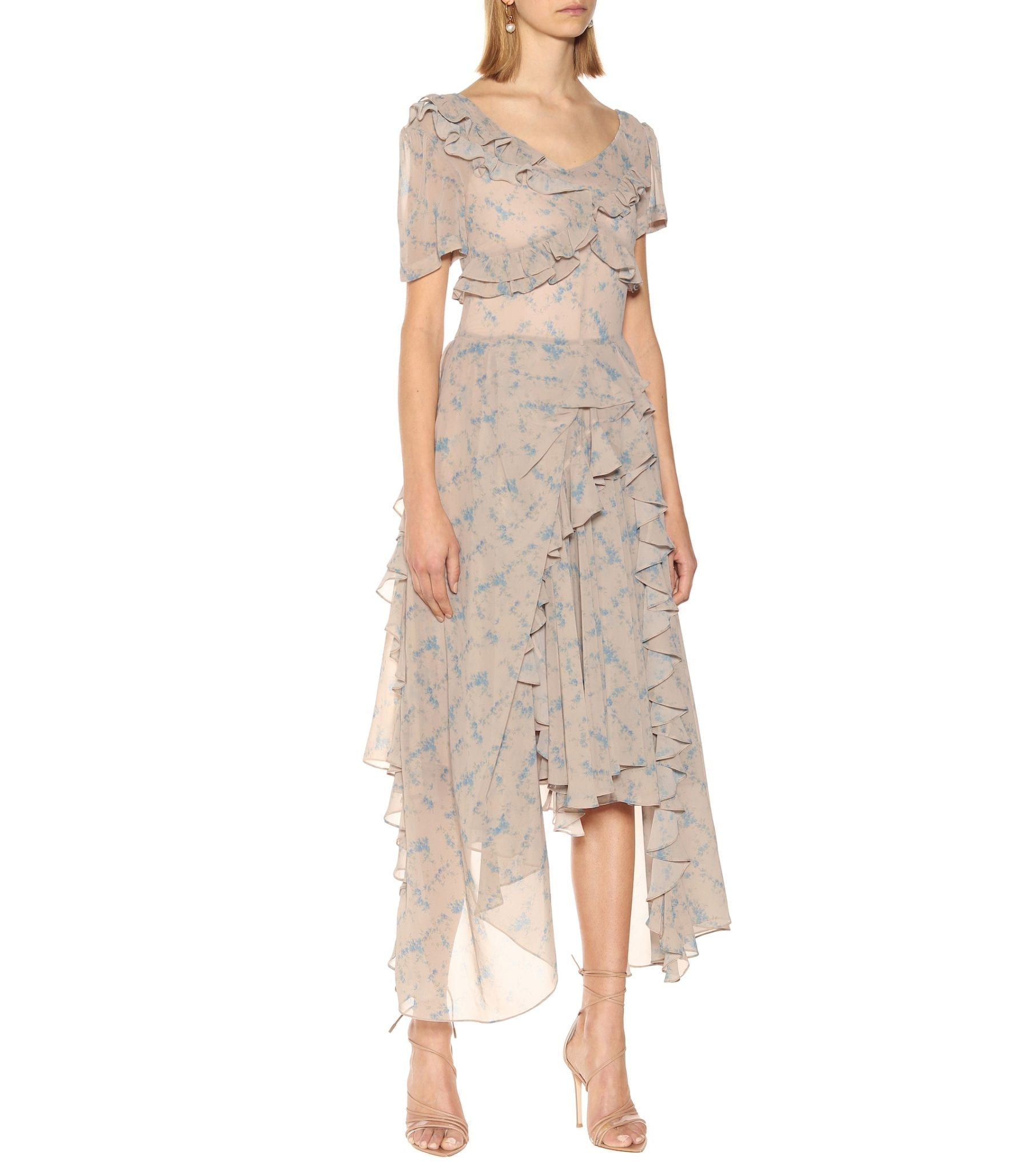 PREEN BY THORNTON BREGAZZI Quia Floral Stretch-crêpe Midi Dress