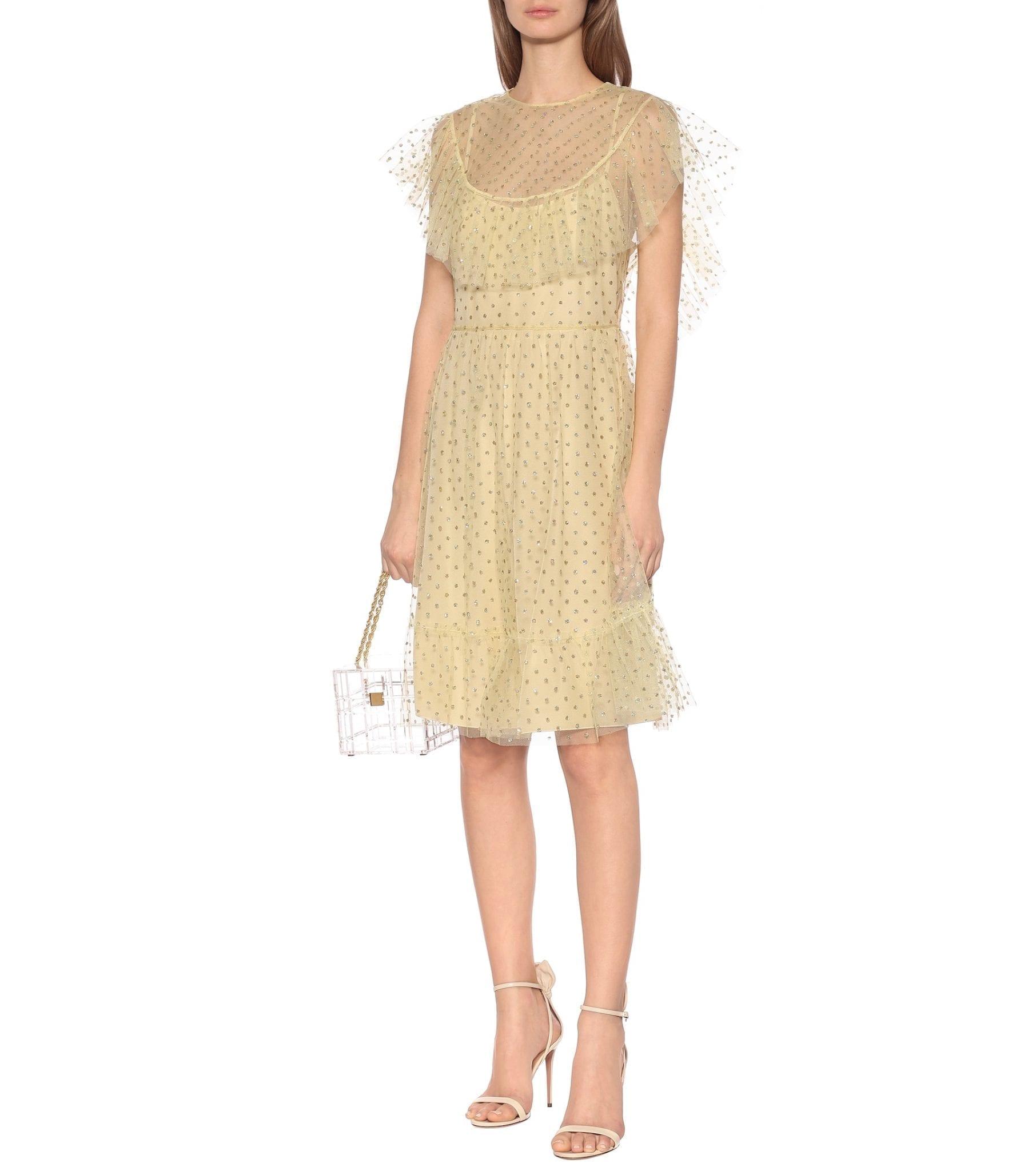REDVALENTINO Embellished Tulle Mini Dress