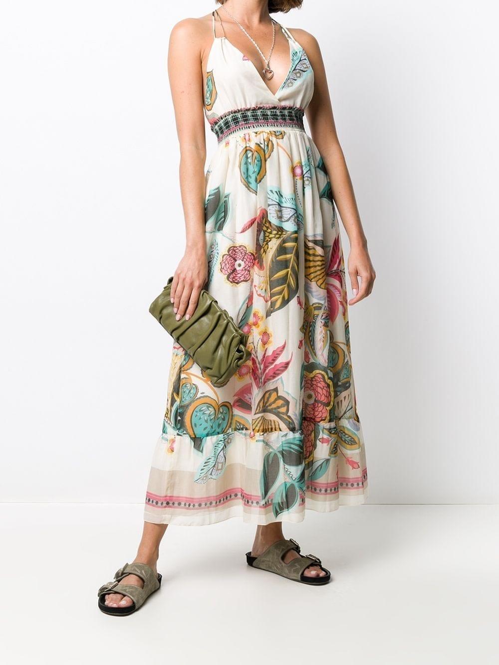 REDVALENTINO Floral Print Long Dress
