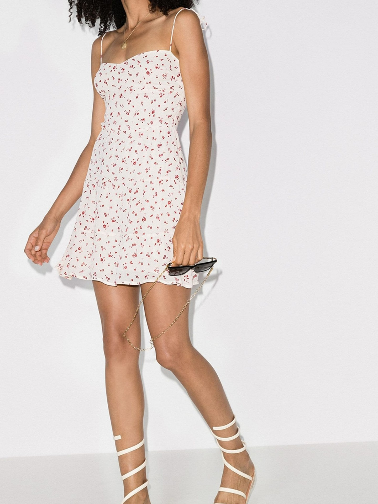 REFORMATION Othello Tie-Strap Mini Dress