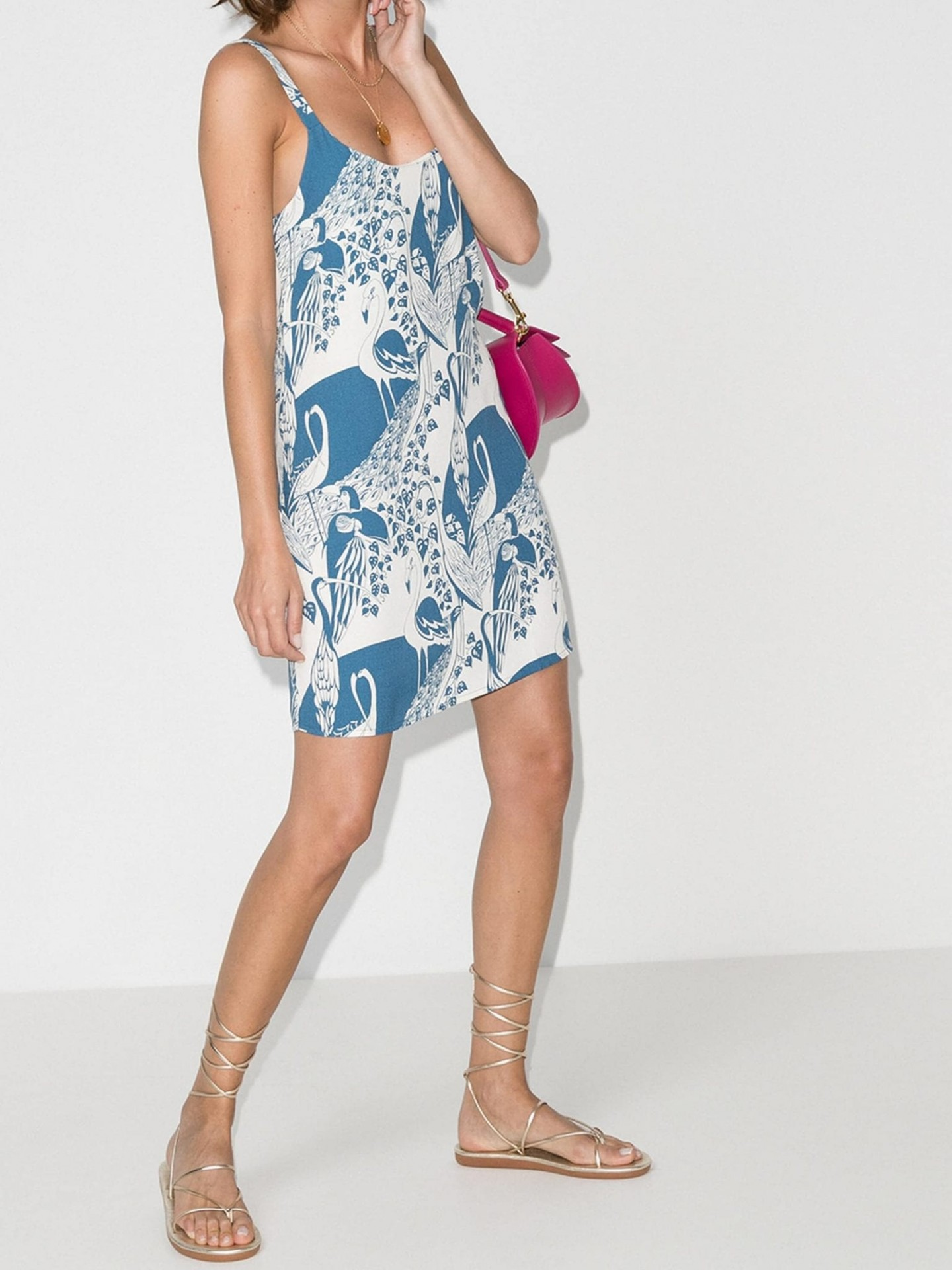 REFORMATION Puglia Printed Mini Dress
