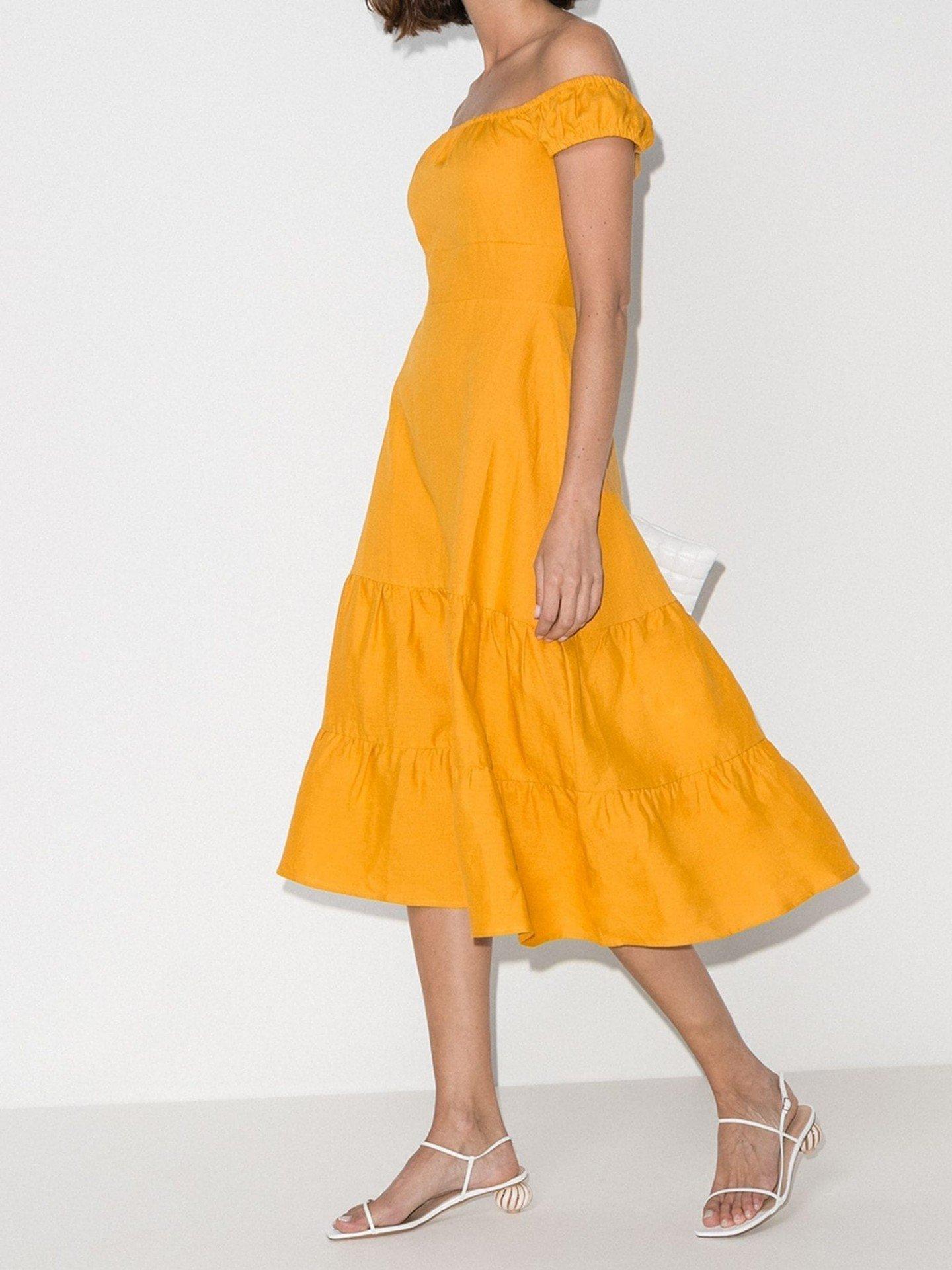 REFORMATION Toulouse Off-The-Shoulder Dress