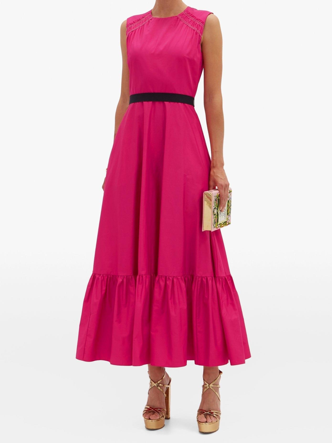 ROKSANDA Blaise Waist-sash Cotton-poplin Dress