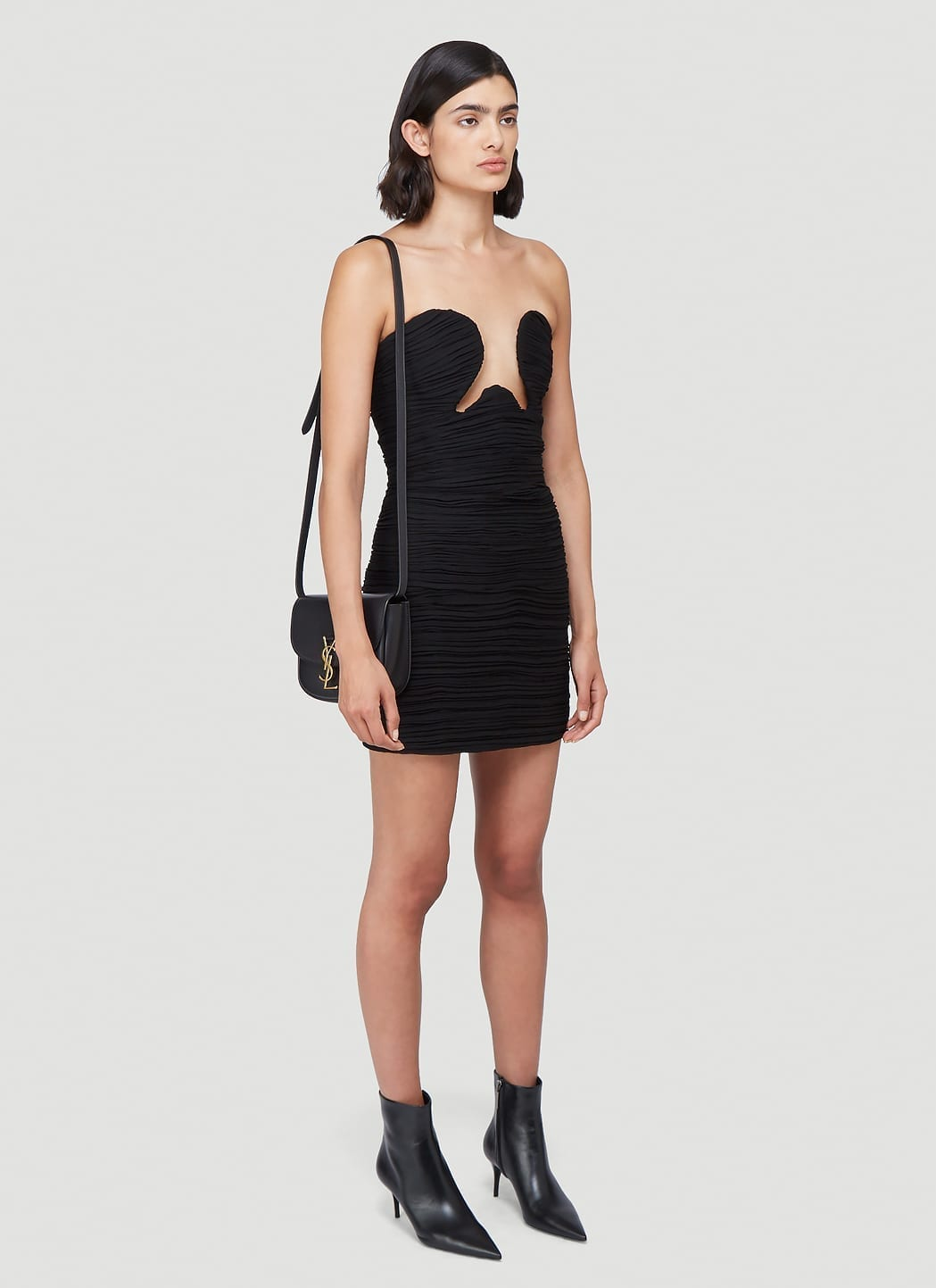 SAINT LAURENT Cut-Out Ruched Dress