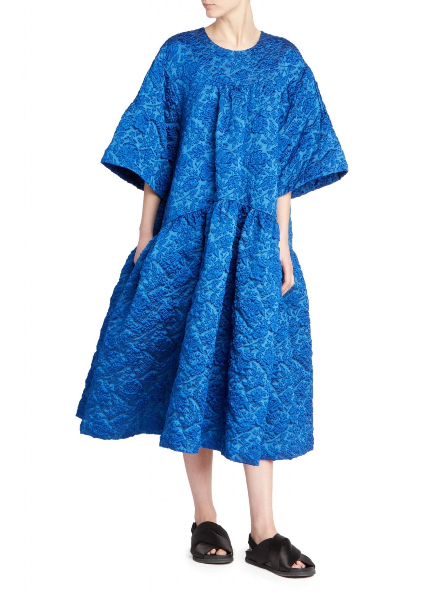 SIMONE ROCHA Cloque Drop-Waist Dress