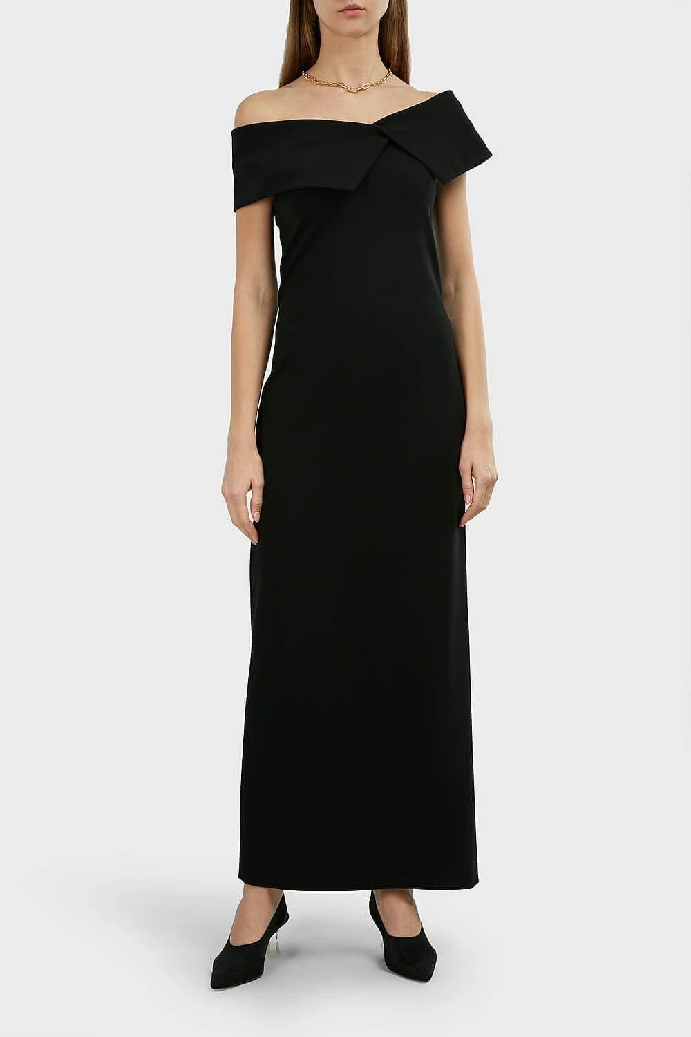 THE ROW Joni Off-Shoulder Maxi Dress