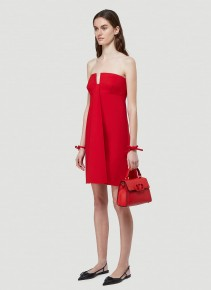 VALENTINO Strapless Crepe Dress