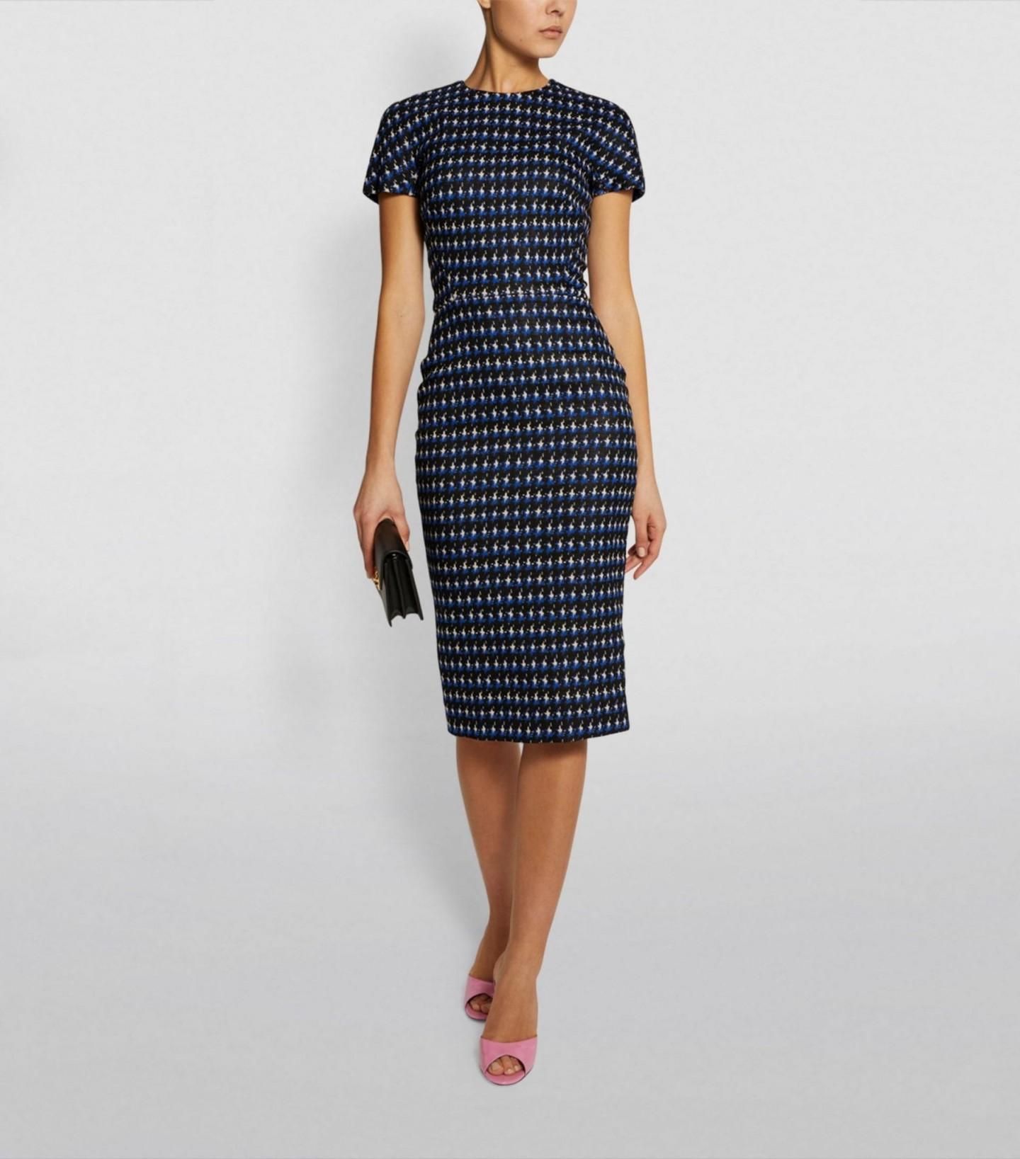 VICTORIA BECKHAM Patterned Midi Dress