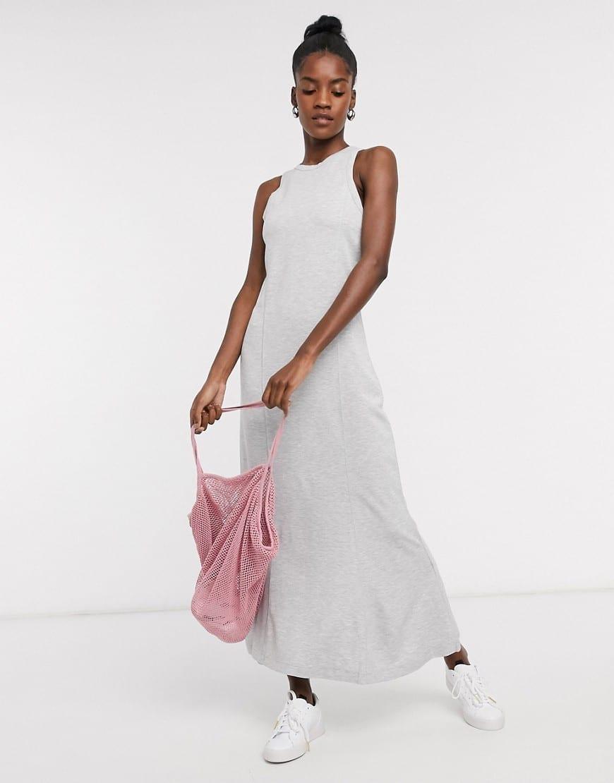 WEEKDAY Telma Jersey Midi Dress