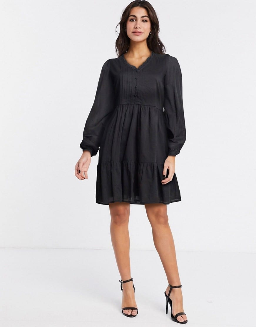 Y.A.S Pintuck Detail Cotton Smock Dress