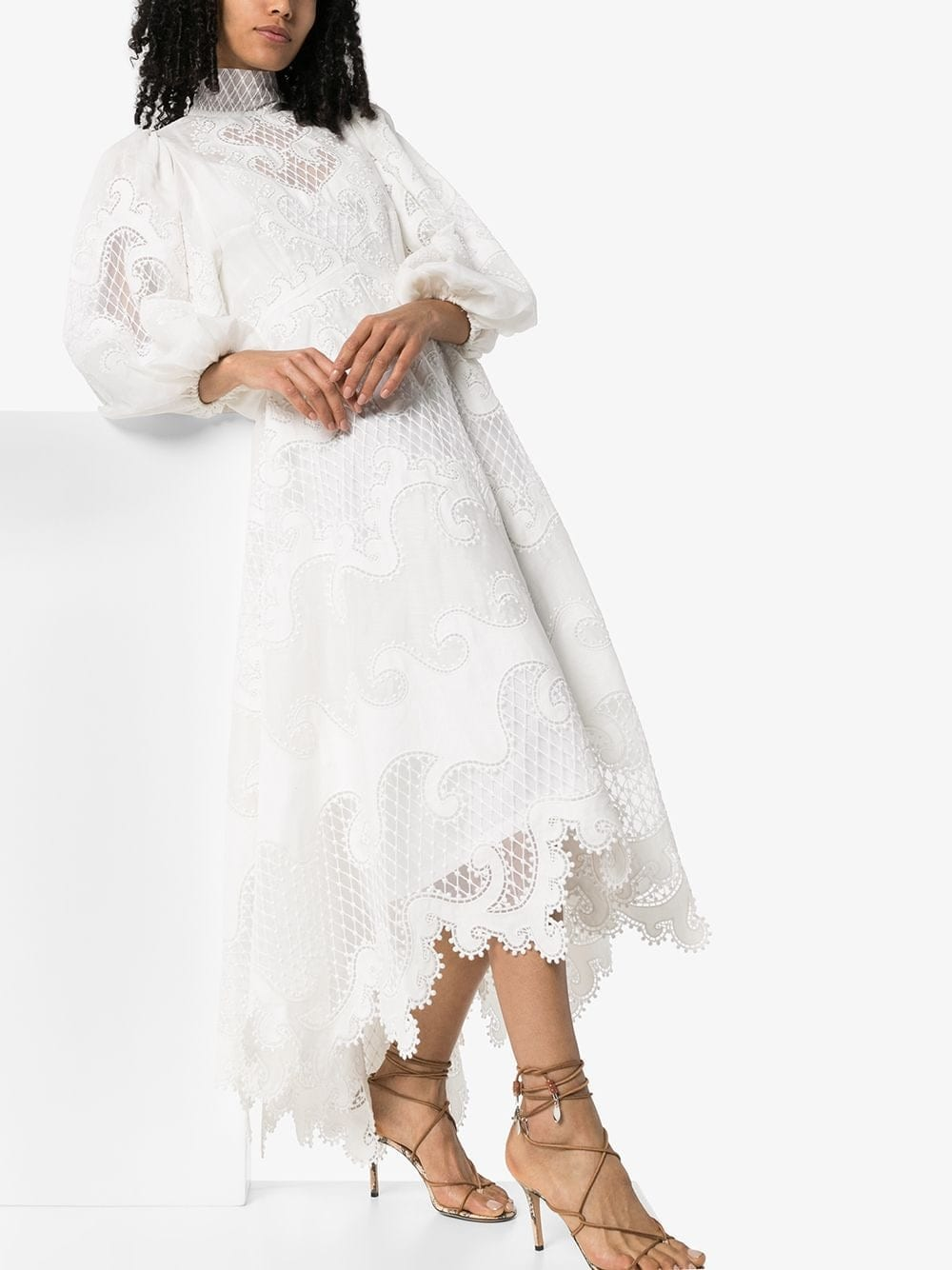 ZIMMERMANN Brightside Embroidered Midi Dress