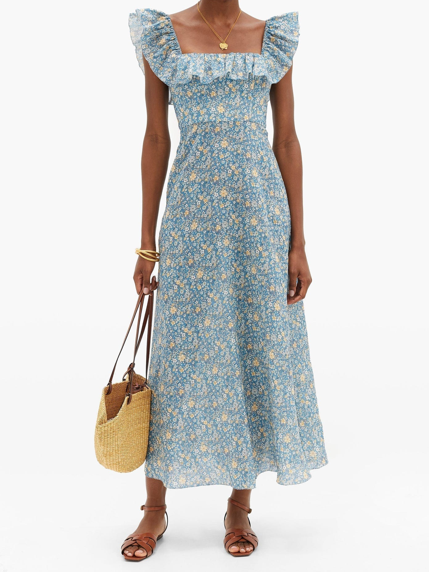 LOVE SHACK FANCY Norma Embroidered-cotton Maxi Dress, LOVE SHACK FANCY Spring Summer 2020 Dress, LOVE SHACK FANCY Dress, Spring Summer Dress