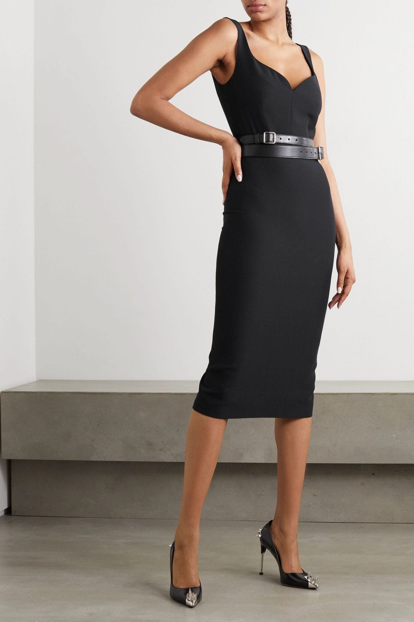 ALEXANDER MCQUEEN Crepe Midi Dress