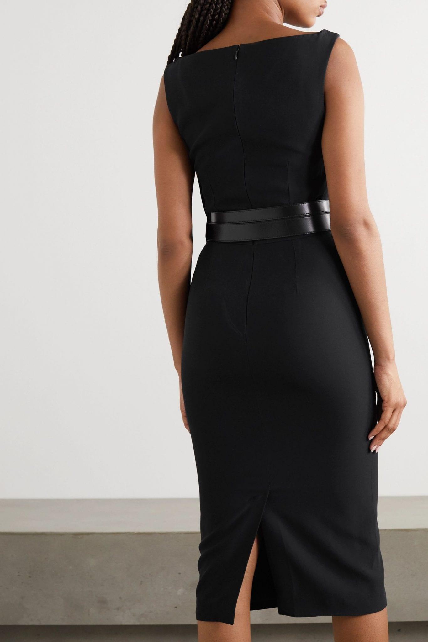 ALEXANDER MCQUEEN Crepe Midi Dress