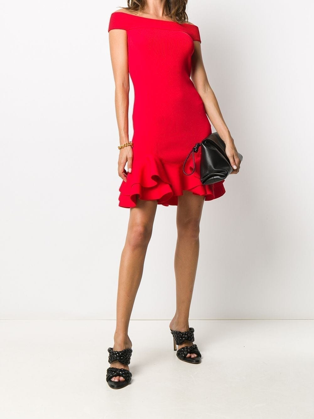 ALEXANDER MCQUEEN Flounced Hem Dress