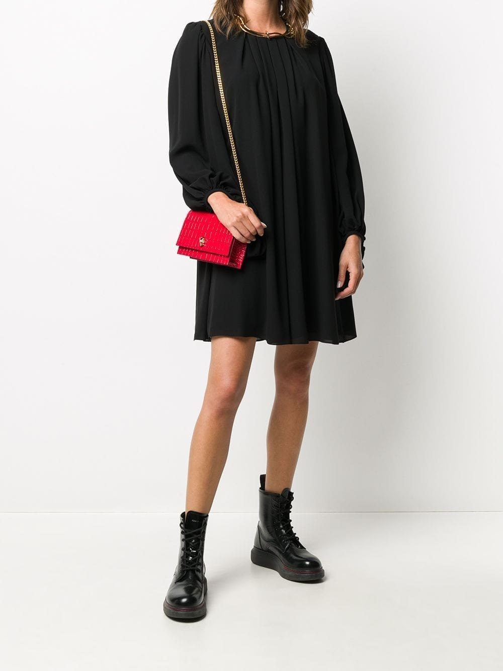ALEXANDER MCQUEEN Pleated Shift Dress