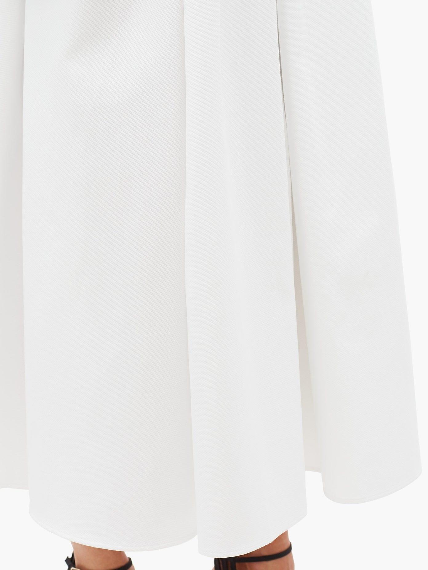 ALEXANDER MCQUEEN Ruffled Cotton-piqué Midi Dress