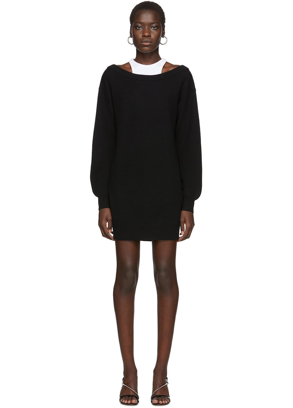 ALEXANDERWANG.T Black Bi-Layer Dress