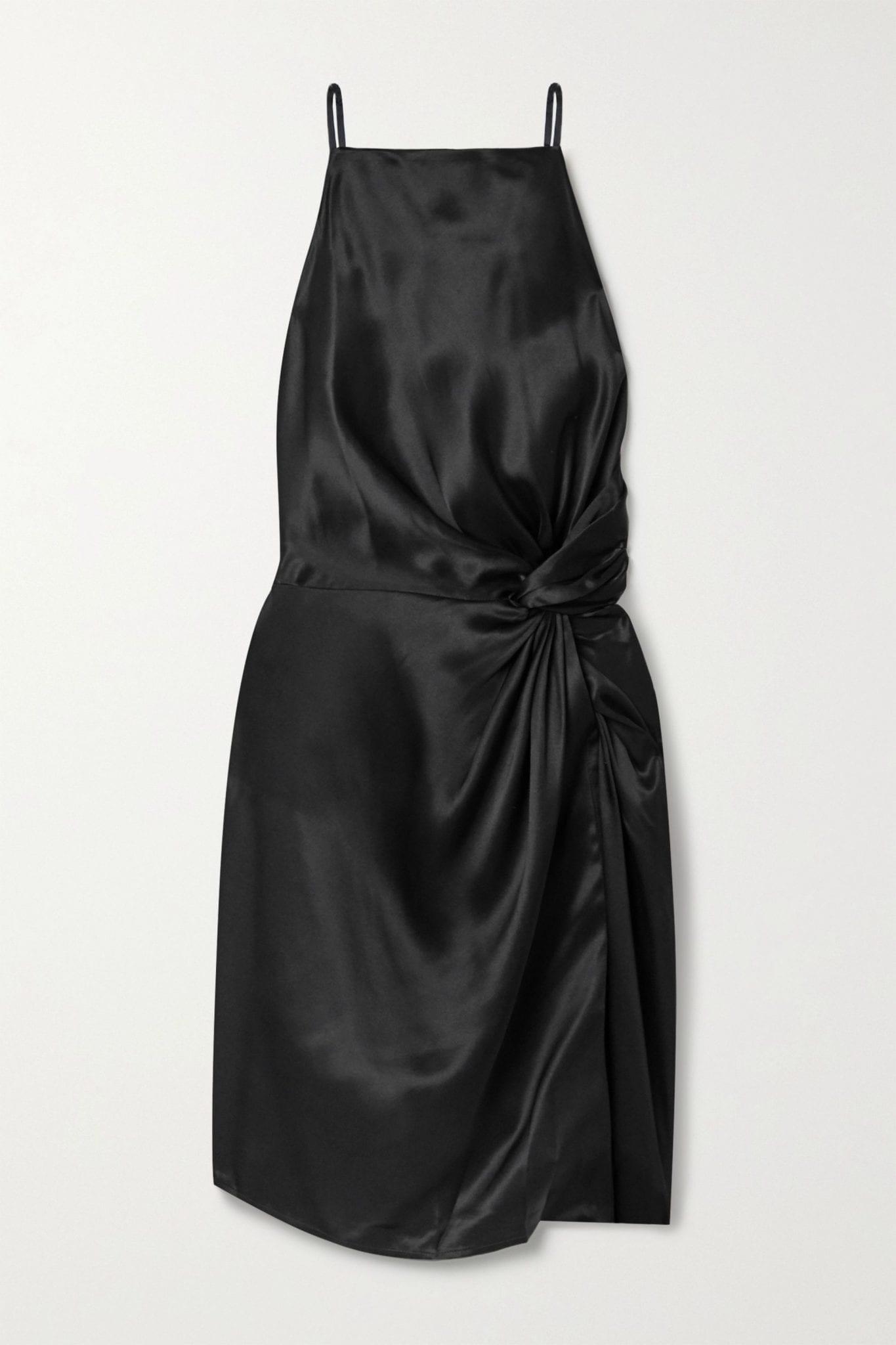 ALEXANDERWANG.T Knotted Silk-charmeuse Mini Dress