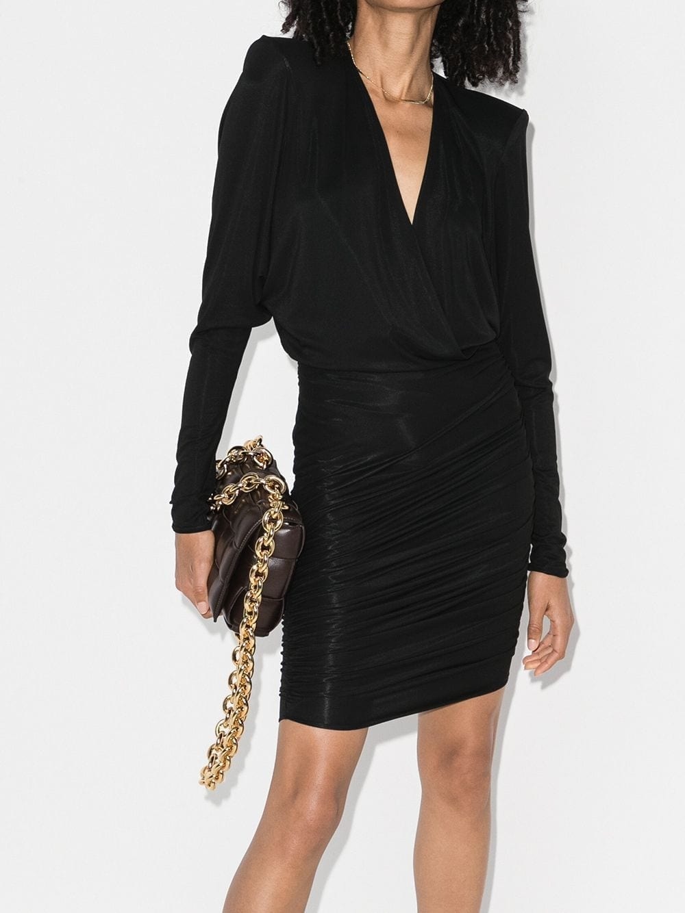 ALEXANDRE VAUTHIER Batwing Sleeve Bodycon Mini Dress