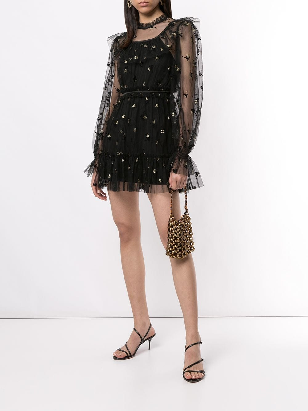 ALICE MCCALL Moon Lover Floral Embroidered Mini Dress