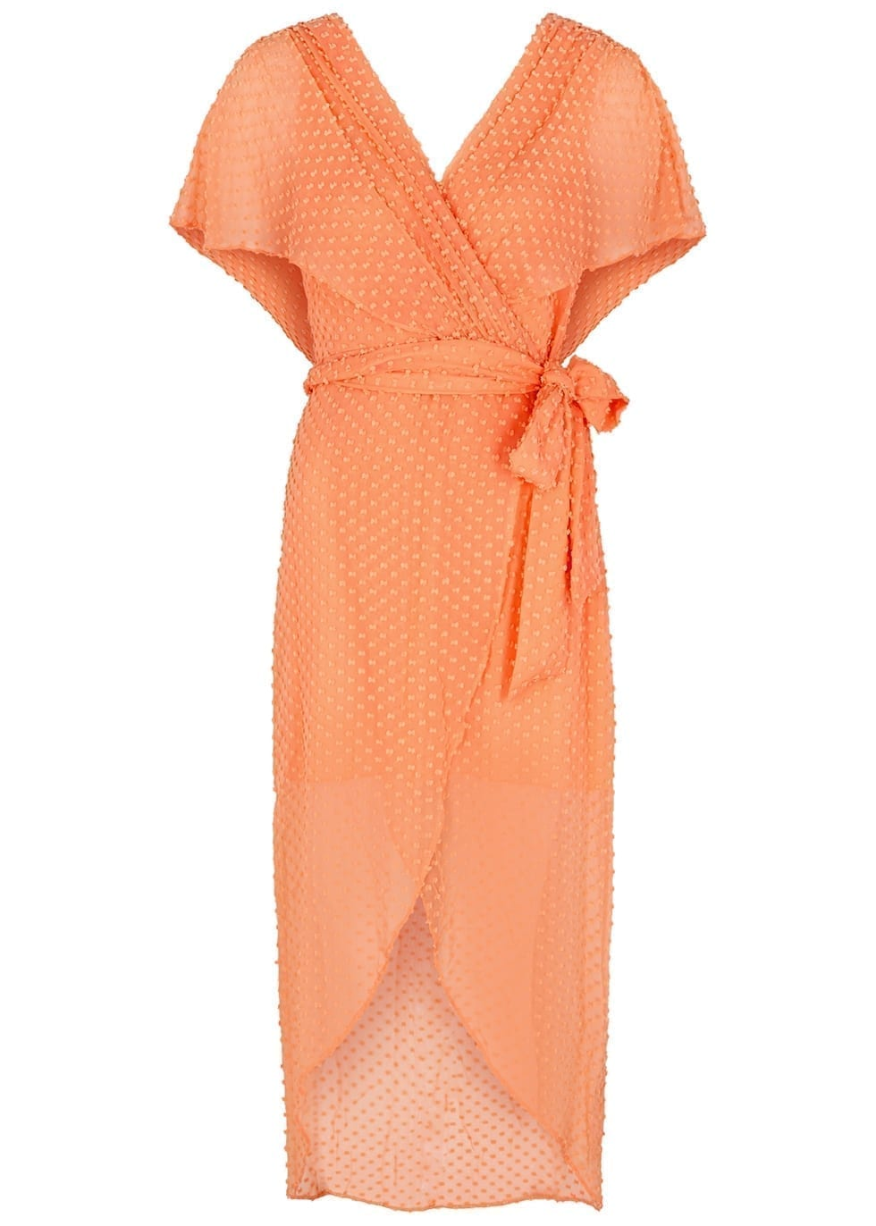 ALICE + OLIVIA Darva Wrap-effect Silk-blend Dress