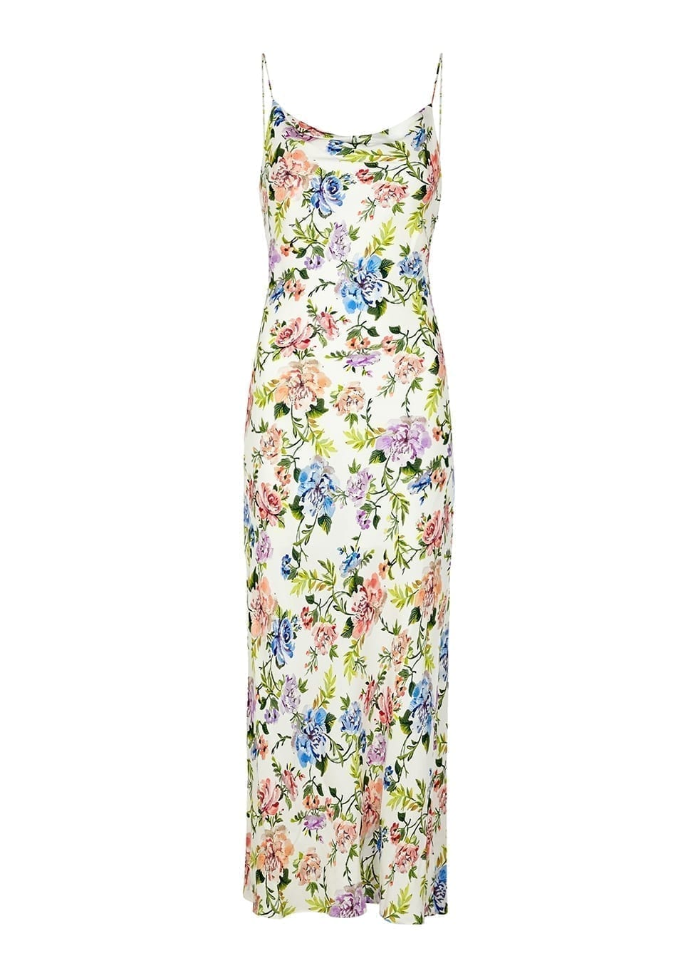 ALICE + OLIVIA Harmony Floral-print Midi Dress