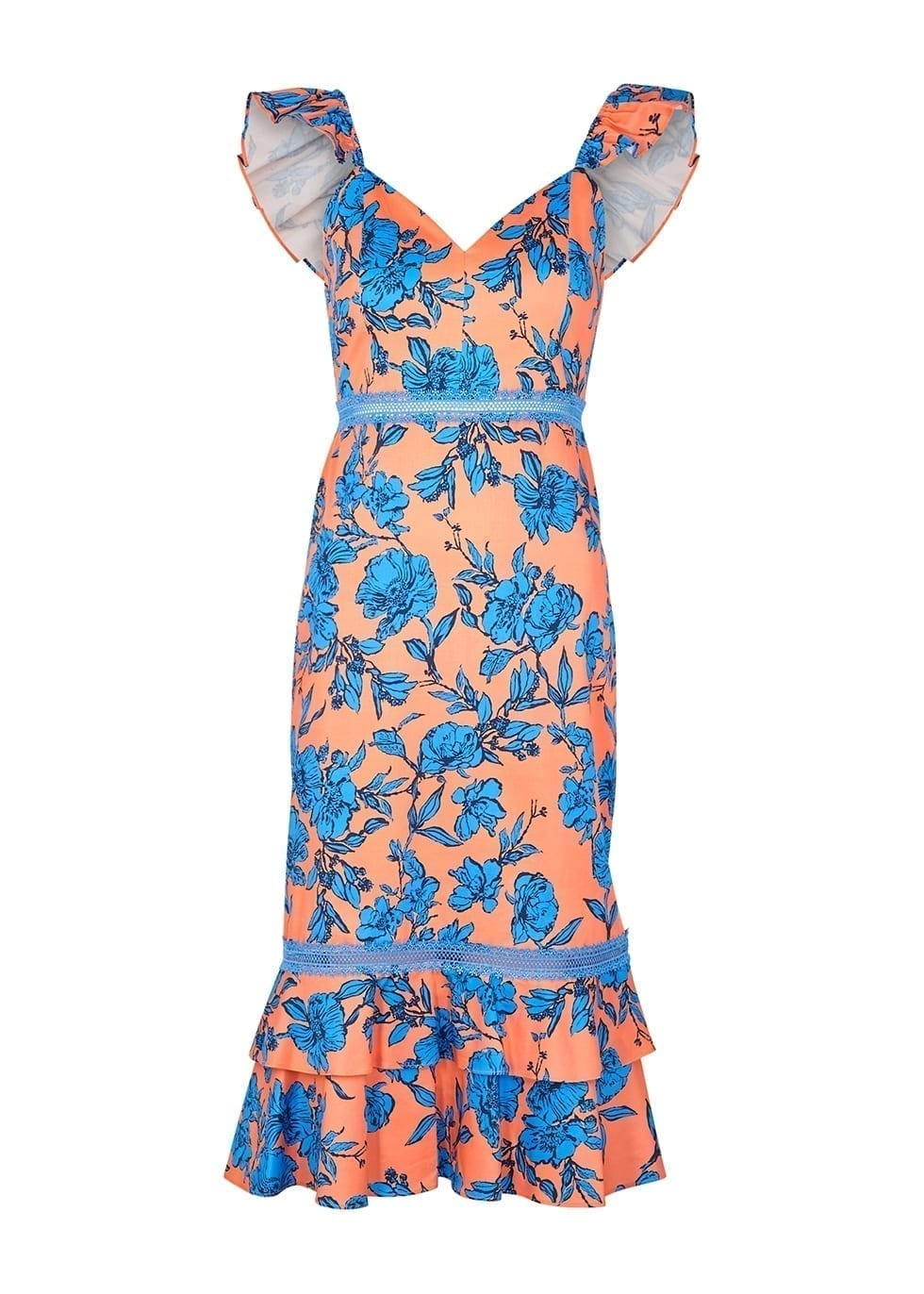 ALICE + OLIVIA Jade Floral-print Stretch-cotton Dress