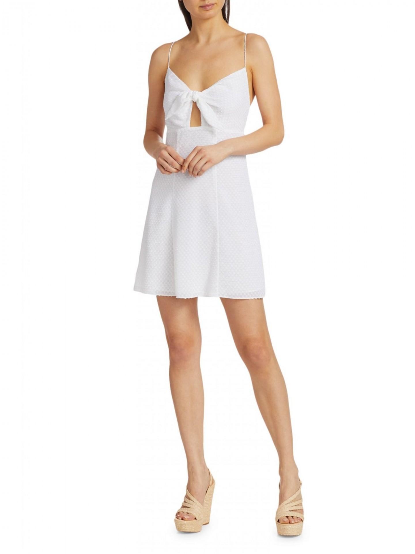 ALICE + OLIVIA Roe Tie-Front Mini Dress