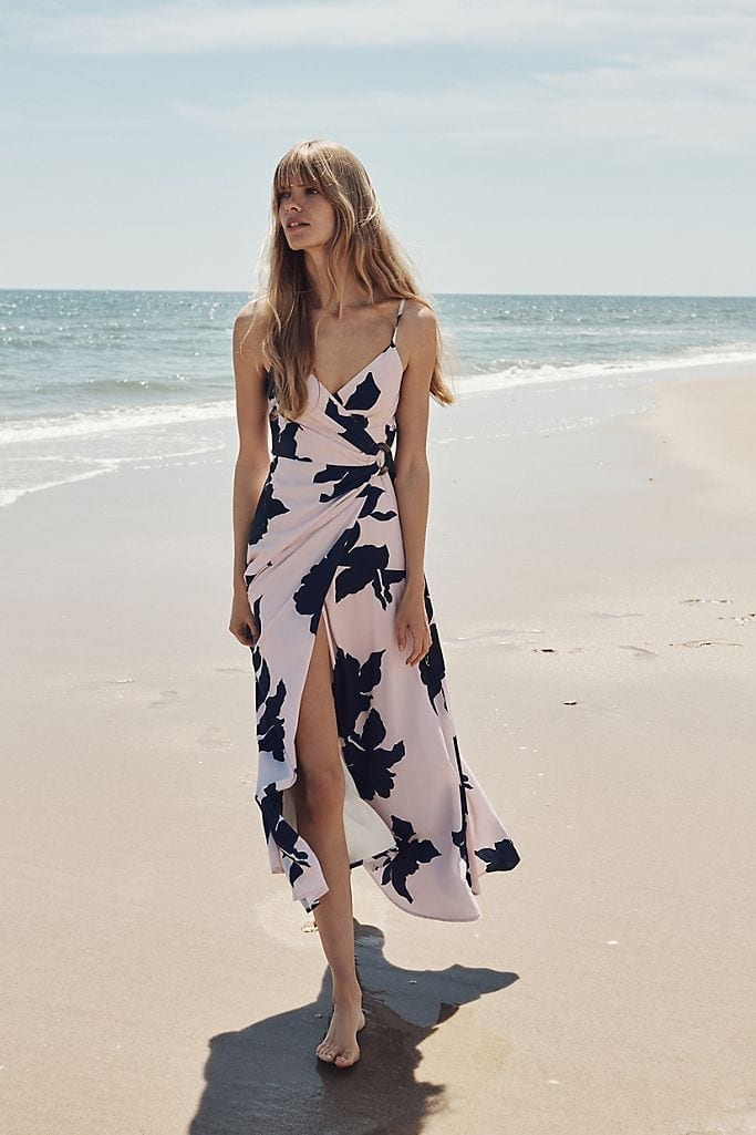 ANTHROPOLOGIE Celina Wrap Maxi Dress