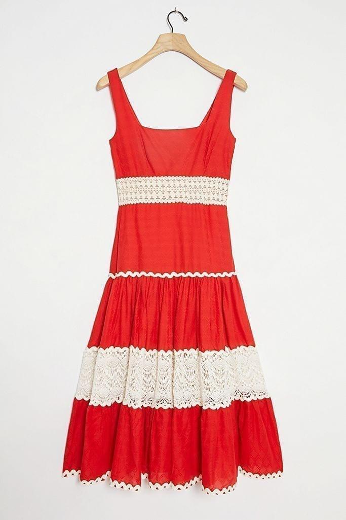 ANTHROPOLOGIE Favianne Lace Maxi Dress