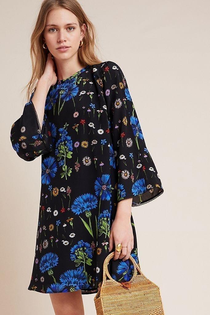 ANTHROPOLOGIE Lucinda Silk Tunic Dress