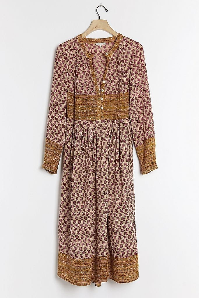 ANTHROPOLOGIE Marion Midi Dress