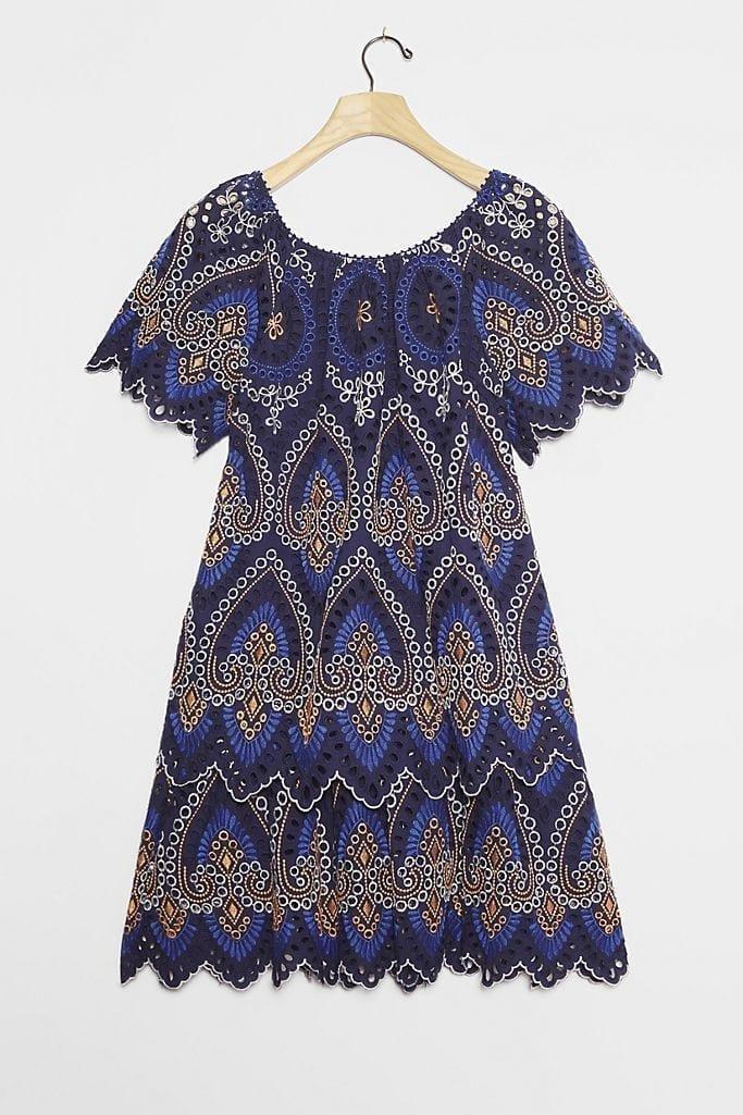 ANTHROPOLOGIE Nori Eyelet Tunic Dress
