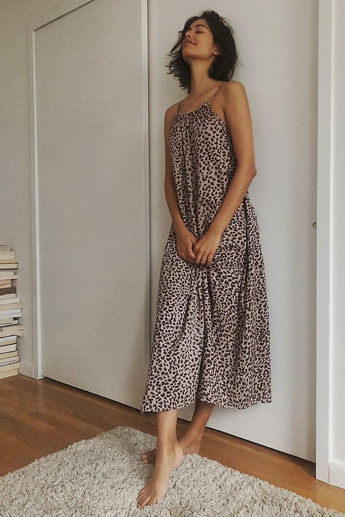 ANTHROPOLOGIE Sundry Leopard Midi Dress