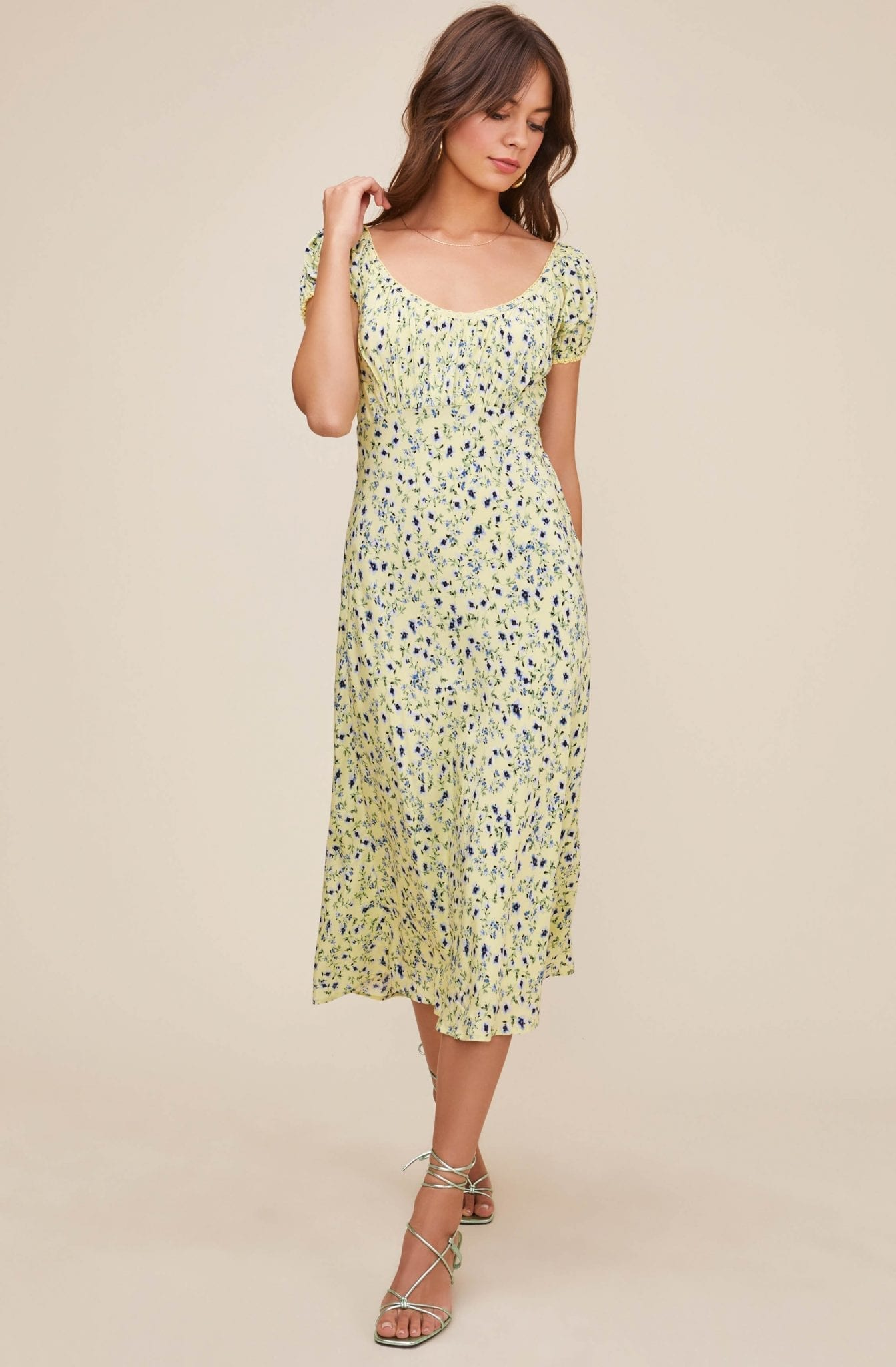ASTRTHELABEL Caprice Floral Midi Dress