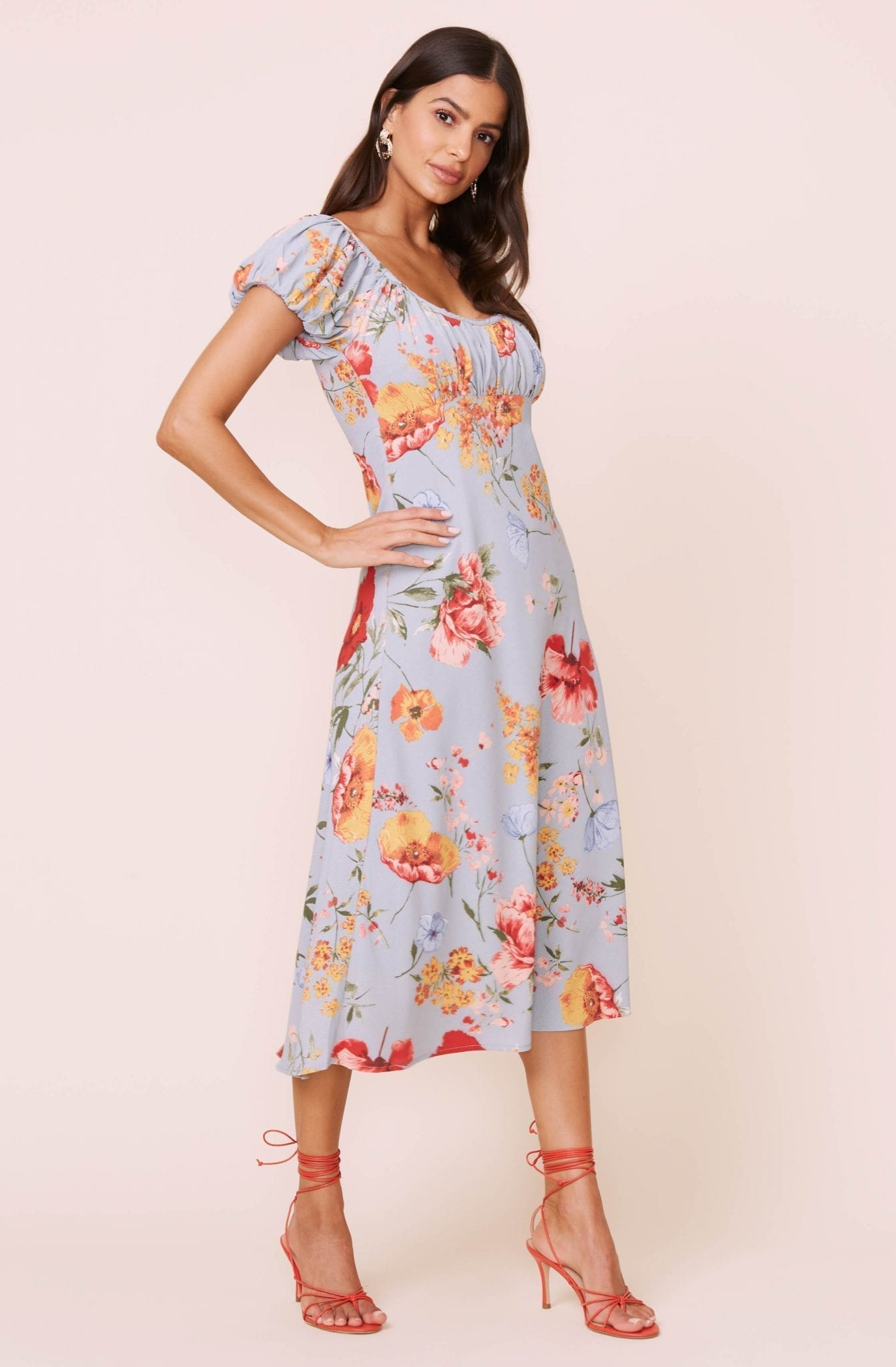 ASTRTHELABEL Donna Floral Midi Dress
