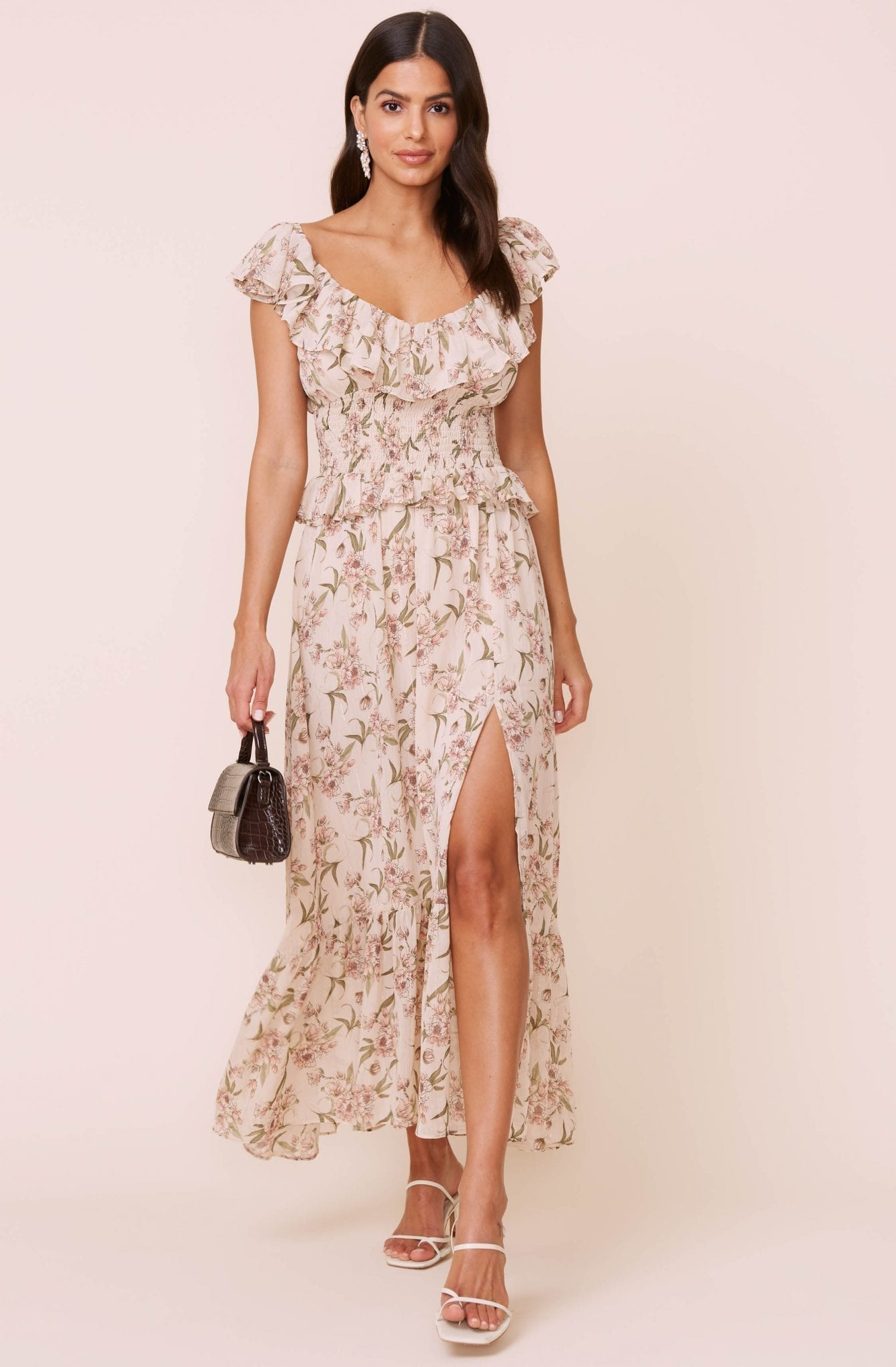ASTRTHELABEL Luna Floral Midi Dress