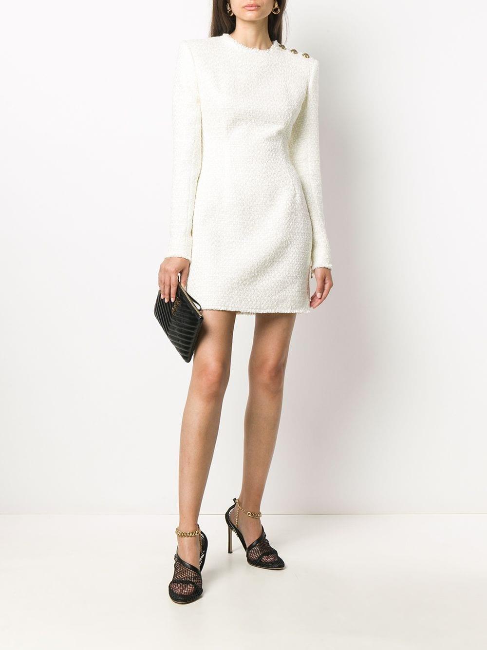 BALMAIN Bouclé Tweed Mini Dress