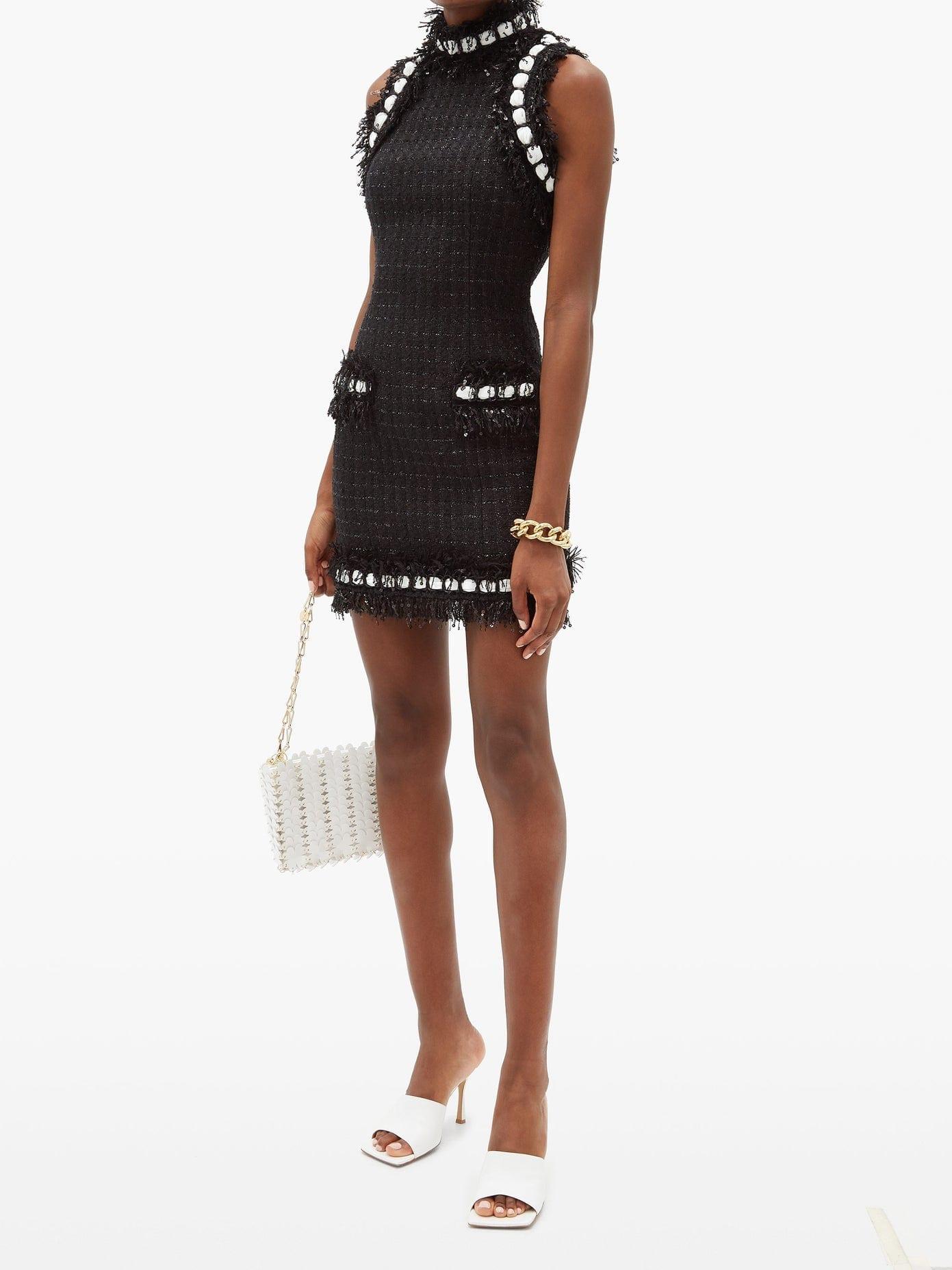 BALMAIN Sequinned Tweed Mini Dress