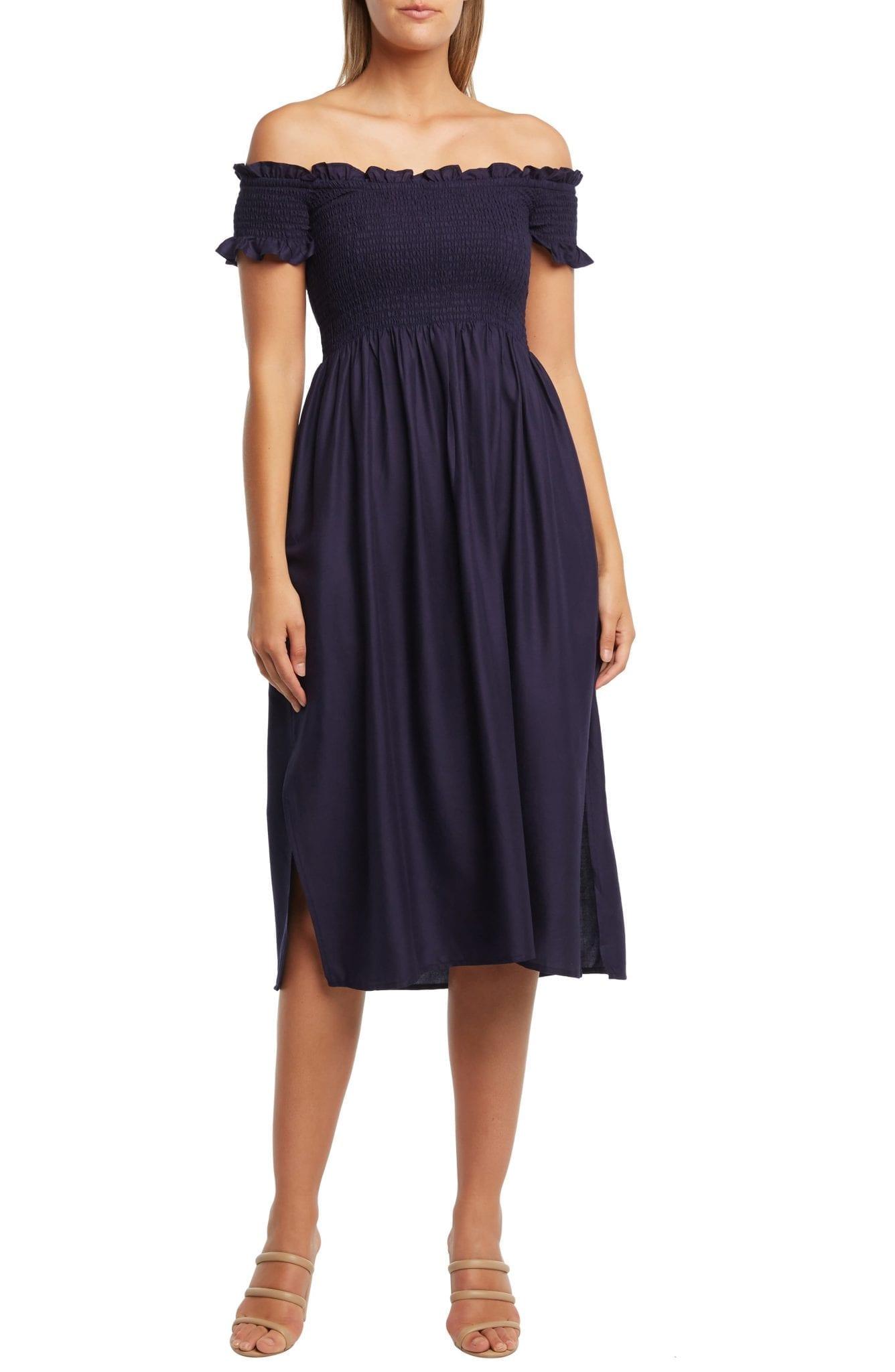 BARDOT Cindy Off the Shoulder Dress