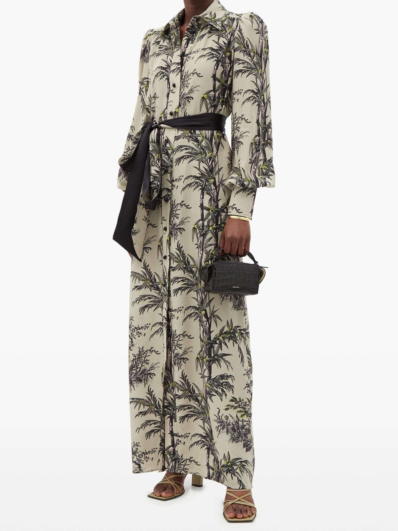 BELLA FREUD Mood For Love Chinoiserie-print Silk Shirt Dress