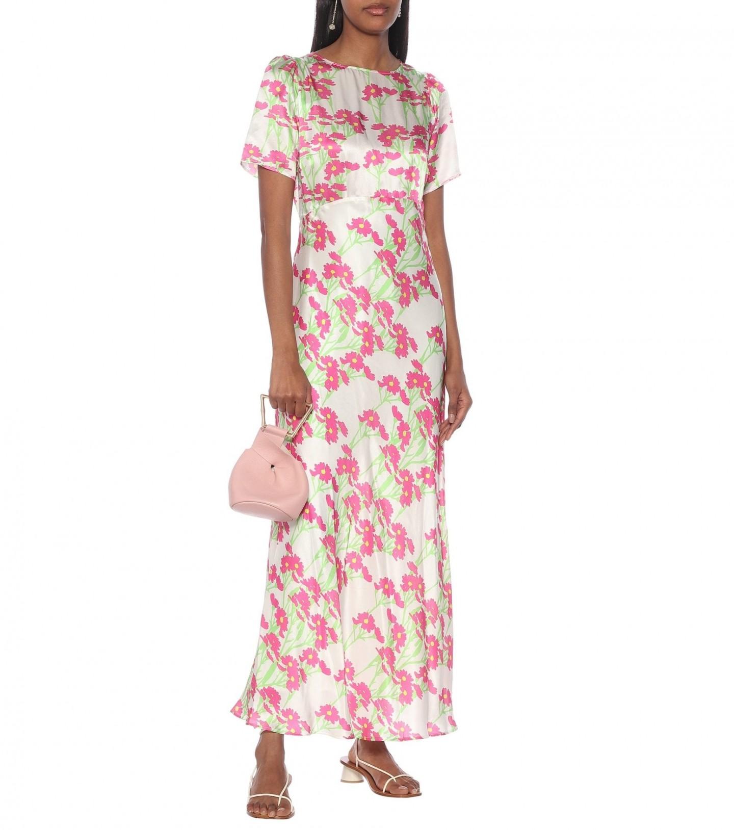 BERNADETTE Jane Floral Silk-satin Maxi Dress